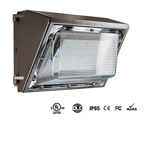 100W LED Wall Pack Fixture, 5700K Bright White Replaces 400W Metal Halide HPS/HID Weather Proof Outdoor Lighting, 100-277V AC UL/cUL DLC by MaxBrite