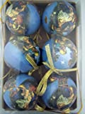 Set of 6 Round For We Have Seen His Star Holy Family Three Kings Nativity Decoupage Ornament