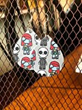 Jack Skellington Inspired Halloween Leather Earrings/Paper Earrings/Lightweight Earrings/Paper Earrings/Funny Earrings/