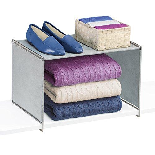 Lynk Vela Closet Organizer Extra Shelf-Platinum (Dividers Sweater Closet)