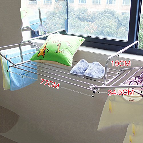 Stainless steel clothes drying rack,Window Balcony Fence bla