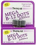 Twin Lab B-12 Mega Dots 5,000mcg Tablets, Vegetarian Formula, 30-Count For Sale