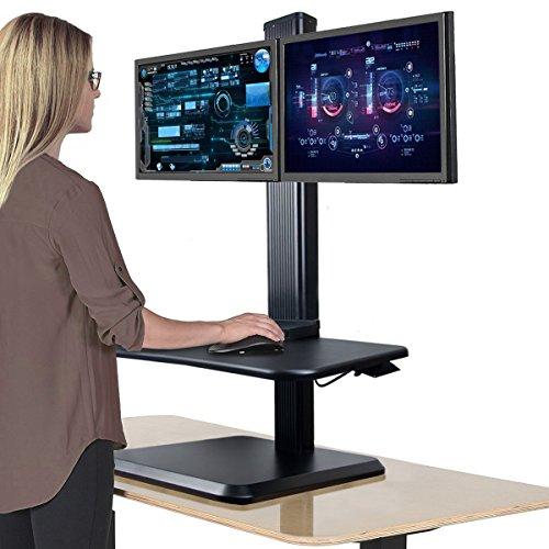 Alice Dual Ergonomic Monitor Stand Up Desk Riser Adjustable Standing  Workstation Desk Converter By Alice