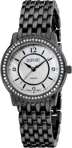 August Steiner Women's ASA827BK Dazzling Diamond Bracelet Watch