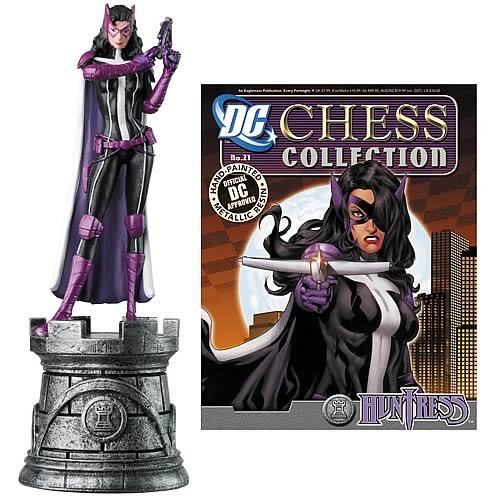 Batman Huntress White Rook Chess Piece with Magazine -  Eaglemoss Publications, AUG121464