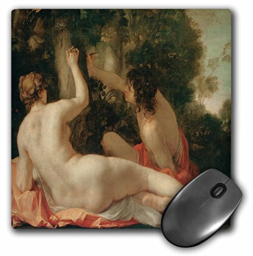 3dRose BLN Beautfiul Nudes Fine Art Collection - Angelica and Medora by Jacaqes Blanchard - MousePad (mp_127964_1)