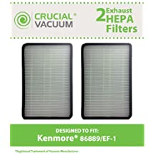 2 PK Kenmore 86889 EF-1 Exhaust HEPA Vacuum Filter, Compare to Part# 86889 (or 20-86889), 40324, EF1 & MC-V194H (MCV194H), Designed & Engineered by Crucial Vacuum