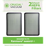 2 Style EF-1 Exhaust HEPA Filters for Kenmore Whispertone/Progressive Vacuums; Compare to Kenmore Part Nos. 86889, 20-86889, 40324; Designed & Engineered by Think Crucial
