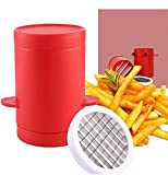 Kinbird Potatoes Maker French Fries Maker Ptatoes slicer and Chipper Fries Cutter Machine(red)
