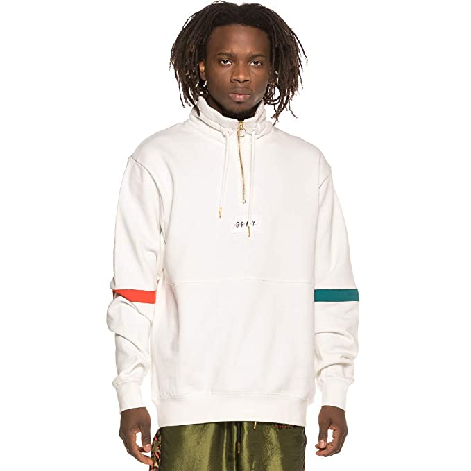 Grimey Sudadera Midnight High Neck Sweatshirt SS19 White: Amazon.es: Ropa y accesorios