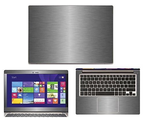 """Decalrus - Asus Zenbook UX303LN / UX303LA (13.3"""" Screen) laptop TITANIUM Texture Brushed Aluminum skin Carbon Fiber skins decal for case cover wrap BAzenbookUX303LNTitanium"""