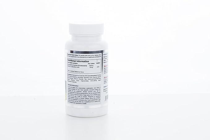 Glucosamina 500mg con Vitamina C| Mantiene el cartílago de las articulaciones | 2 x 180 comprimidos: Amazon.es: Salud y cuidado personal