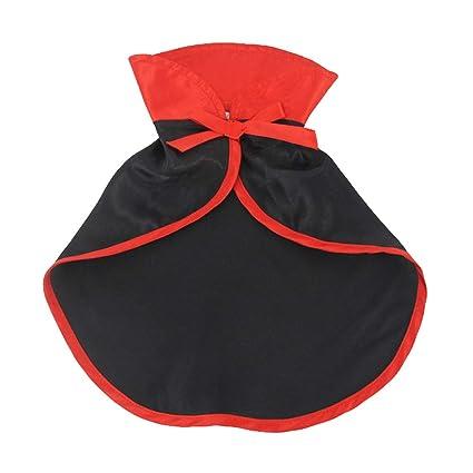 POPETPOP Traje de Gato Trajes de Mascotas de Navidad Terciopelo Rojo Mascota Cabo de Gato Disfraz de Halloween Ropa para Mascotas