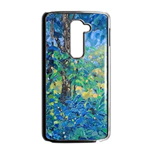 Blue forest scenery painting Phone Case for LG G2