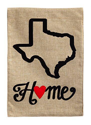 Evergreen Texas State of My Heart Burlap Garden Flag, 12.5 x...