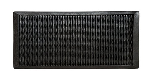 HONGVILLE Black Heavy Duty Outdoor Indoor Front Door Floor Rug Rubber Fingertip Entrance Mat (28 X 46)