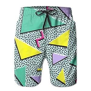 Funny 80s & 90s Retro Neon Men's Summer Casual Shorts Beachwear Sports Swim Board Shorts Breathable Surfing Shorts