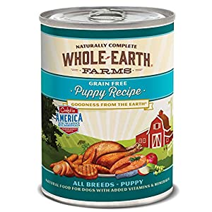 Whole Earth Farms Puppy Recipe, 12.7-Ounce, Pack Of 12