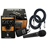 TC-Helicon VoiceTone E1 Vocal Effect Pedal w/Power Supply, 2 Free 20' XLR Cables, and a Microphone