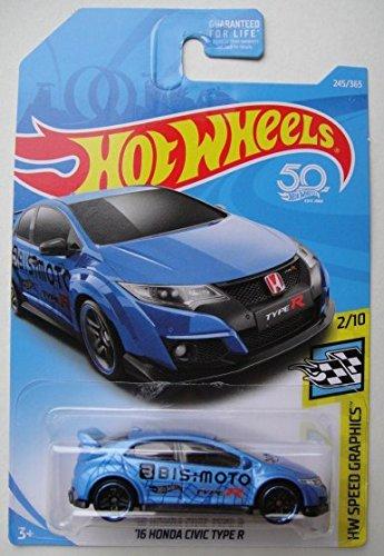 Hot Wheels SPEED GRAPHICS 2/10, BLUE '16 HONDA CIVIC TYPE R 245/365 50TH ANNIVERSARY -