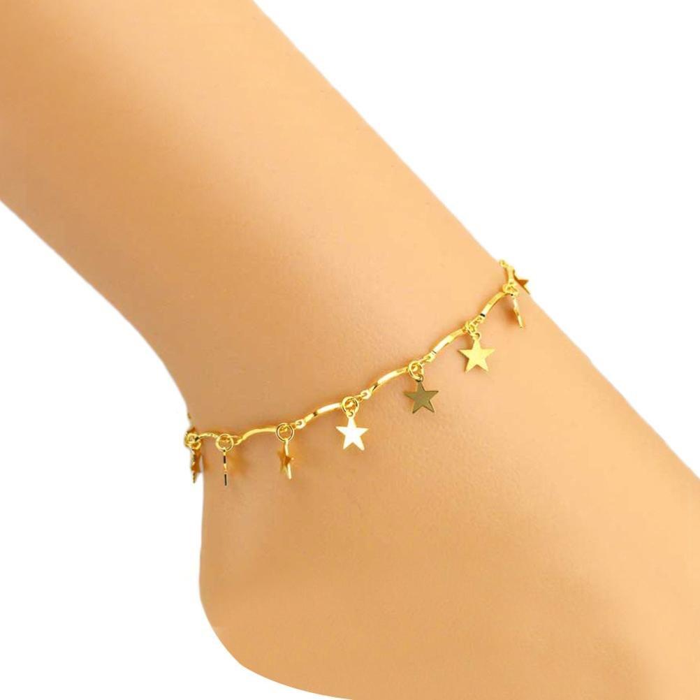 Femmes Bijoux, YanHoo® Femmes Été Petite Étoile Femmes Cheville Bracelet Pieds Nus Pied Design Spécial Cadeau Pour Filles Dames Sandale Plage Pied Bijoux Partie