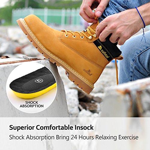 Negro Amarillo Botas 8356b Safetoe De Calzados Impermeables Hombre Trabajo Color Seguridad qqfzwU