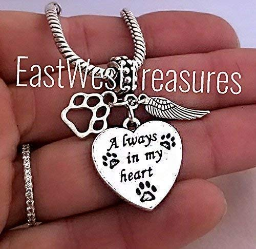 Pet Memorial Charm Bracelet and necklace-Pet Cat Dog remembrance jewelry-Memory jewelry gifts for loss of a pet dog -