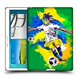 Head Case Designs Brazil Football Splash Protective Snap-on Hard Back Case Cover for Samsung Galaxy Tab S 10.5 LTE T805 WIFI T800