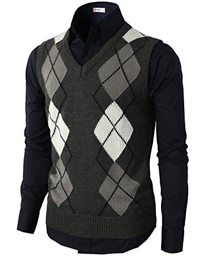 H2H Casual Argyle Sweater Various