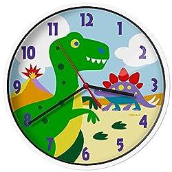 Wildkin 623412 Olive Kids Dinosaur Land Wall Clock, Dinosaur Land