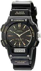 "Casio Men's AQ150W-1EV ""Ana-Digi Chronograph"" Sport Watch with Black Resin Band"