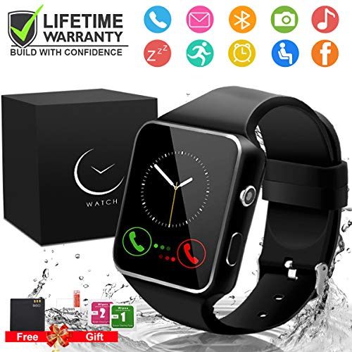 - Smart Watch,Smartwatch for Android Phones, Smart Watches Touchscreen with Camera Bluetooth Watch Phone with SIM Card Slot Watch Cell Phone Compatible Android Samsung iOS Phone XS X8 7 6 5 Men Women