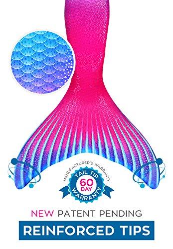 Fin Fun Mermaid Tail, Reinforced tips, Monofin, Maui Splash, Child 8 by Fin Fun (Image #3)