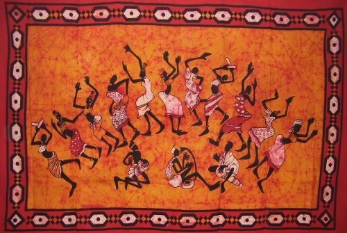 Tribal Dance Tapestry-Unique Home Decor-Wall Hanging