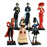 6 Anime Kuroshitsuji Black Butler Characters Figure Set ~FREE PIN with PURCHASE~