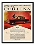 Iposters Ford Cortina Mk 1 Car Advert Print Magnetic Memo Board Black Framed - 41 X 31 Cms (approx 16 X 12 Inches)