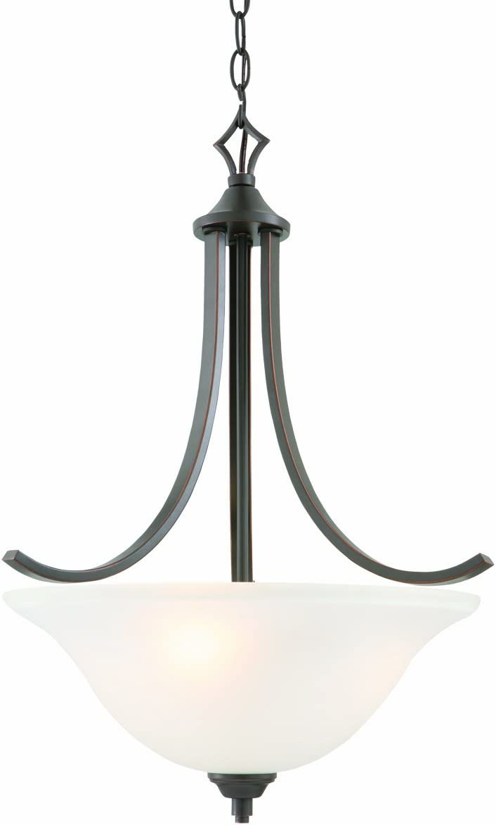 Design House 515825 Juneau 3 Light Pendant, Oil Rubbed Bronze