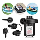 Wesho Electric Pump for Inflatables Air Pump Paddling Pool Pump 220-240V/150W Electric Pump, Paddling Pools Pump for Air bed, Blow up Bed Pump for Camping Sports, Kids Paddling Pools