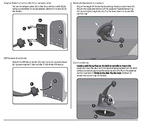 Windshield Dash Suction Car Mount for XM and Sirius Satellite Radios Single T and AMPS Pattern Compatible by ARKON (Image #2)