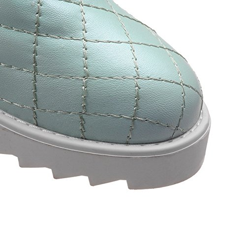 AdeeSu Girls Platform Heighten Inside Lattice Imitated Leather Boots Green uVxv3vet