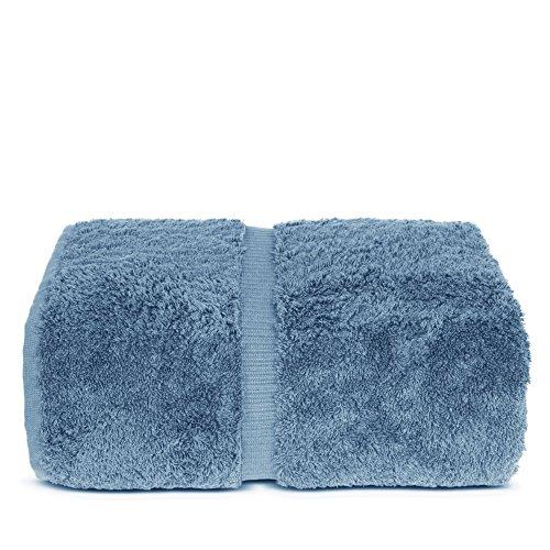 Indulge Linen Bath Sheets, 100% Turkish Cotton (Cornflower Blue, Standard (35x70 inches) - Set of 1)
