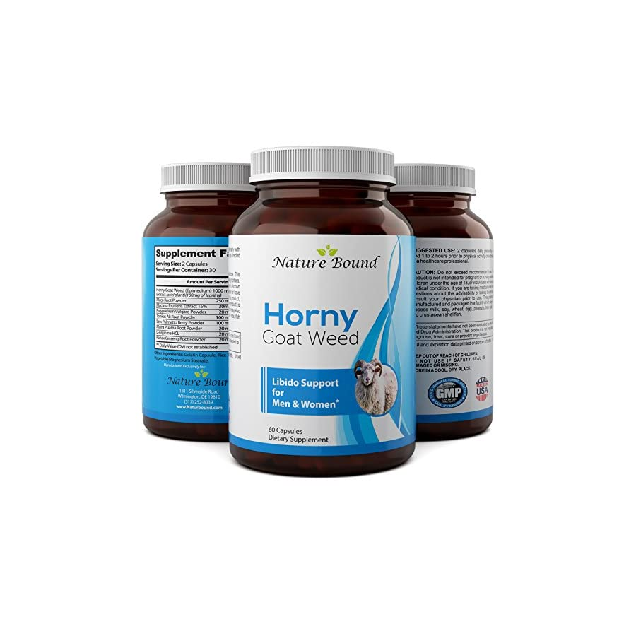 Horny Goat Weed Herbal Supplement for Men and Women 60 Capsules – 1500 MG – California Products