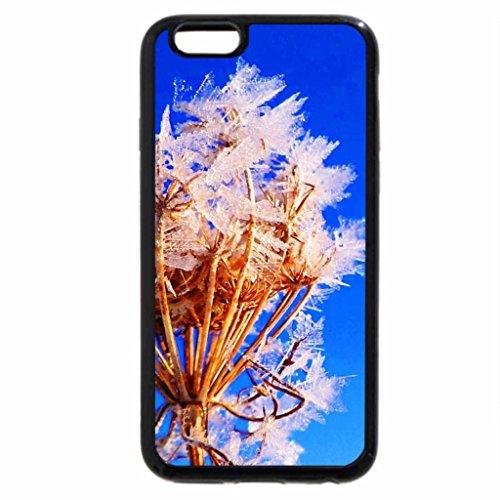 iPhone 6S Case, iPhone 6 Case (Black & White) - Die Eisblume .