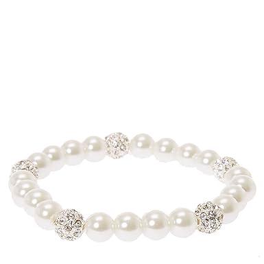 Cream Pearl Glass Bracelet Bl07418 cHVtN78Y61