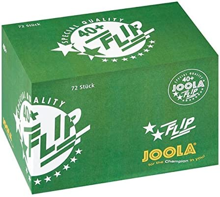 JOOLA Flip White 40 + 72 Pelotas, Color Blanco, One Size