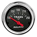 "Auto Meter 2552 Traditional Chrome 2-1/16"" Short Sweep Electric Transmission Temperature Gauge"