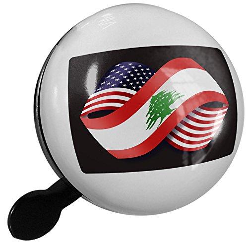 Small Bike Bell Friendship Flags USA and Lebanon - - Usa City Lebanon