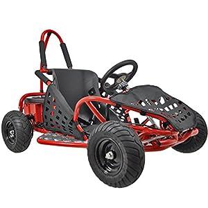 Go-Bowen-Baja-1000W-48V-Electric-Kids-Go-Kart-Red