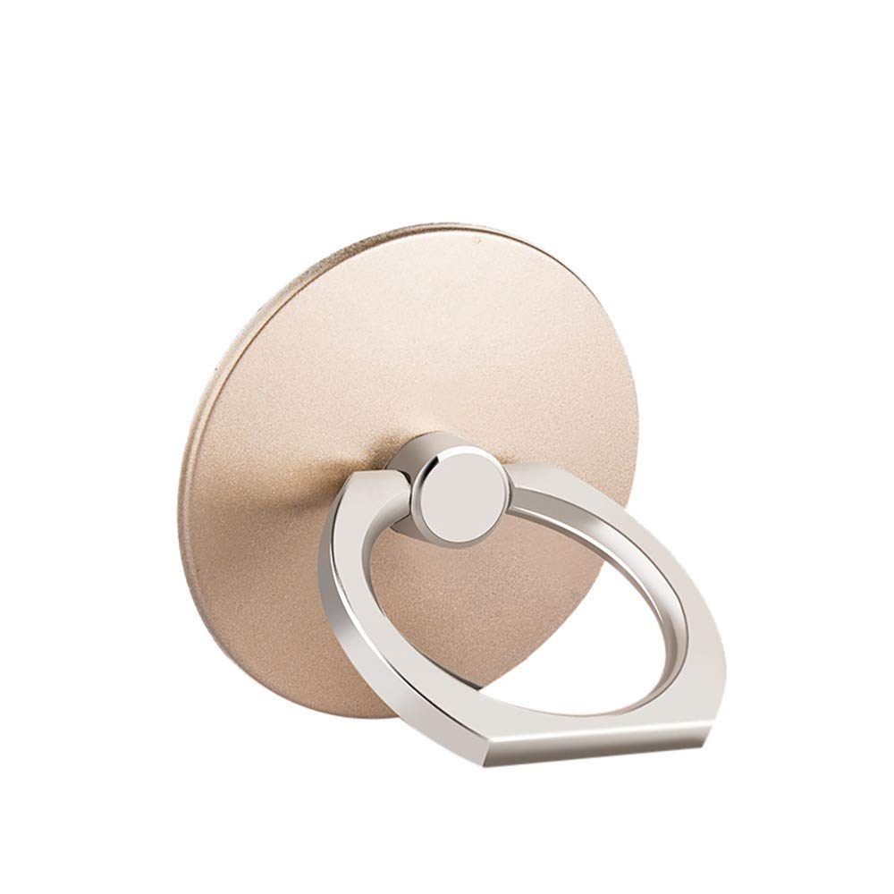 Gold Tuscom Cell Phone Ring Holder Loop Grip Car Mount Stent Hook Bracket Universal Smartphone Kickstand for iPhone Xs Max X 8 7 7Plus Samsung Galaxy S9 S8 LG HTC Finger Ring Stand