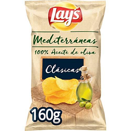 Lay's – Mediterráneas, Patatas Fritas, 100% Aceite de Oliva – 160 gr